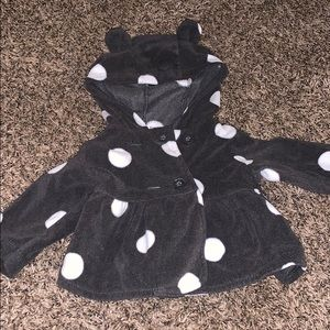 Polka dot carters sweater with ears. NBW
